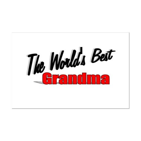 """The World's Best Grandma"" Mini Poster Print"