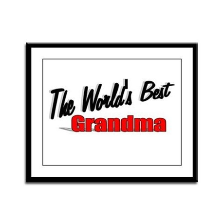 """The World's Best Grandma"" Framed Panel Print"