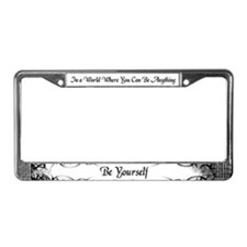 Cute Witty words License Plate Frame