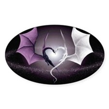 Dragon Love Oval Decal