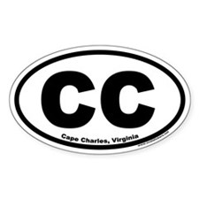 Cape Charles, VA Euro Style Oval Decal