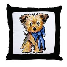 Yorkie Boy Throw Pillow