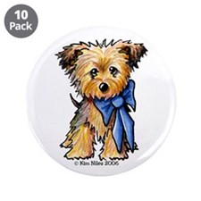 "Yorkie Boy 3.5"" Button (10 pack)"