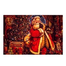 Old Fashioned Santa Postcards (Package of 8)