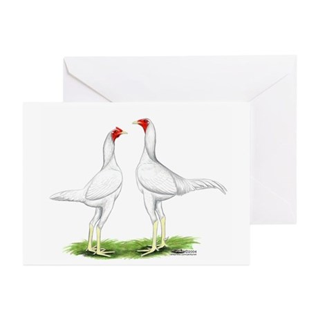 White Modern Games Greeting Cards (Pk of 10)