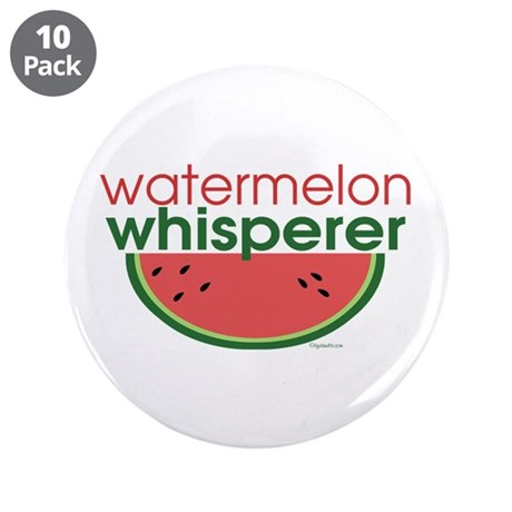 "Watermelon Whisperer 3.5"" Button (10 pack)"