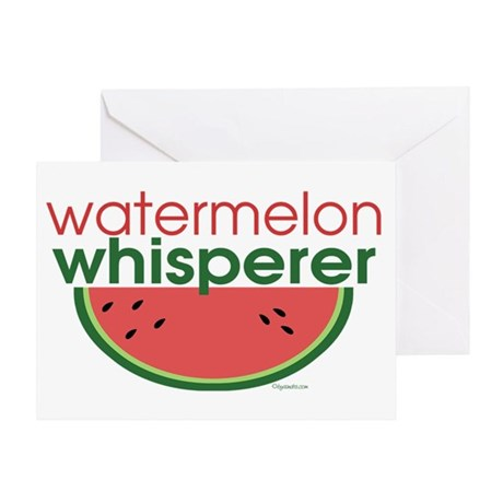 Watermelon Whisperer Greeting Card