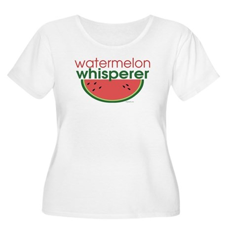 Watermelon Whisperer Women's Plus Size Scoop Neck
