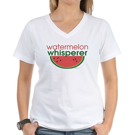 Watermelon Whisperer Women's V-Neck T-Shirt