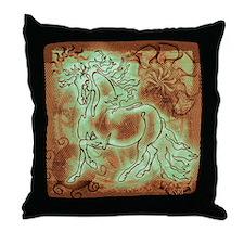 """""""Abundante"""" Throw Pillow ~ Patina Copper"""