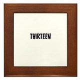 Thirteen Framed Tile