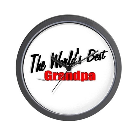 """The World's Best Grandpa"" Wall Clock"