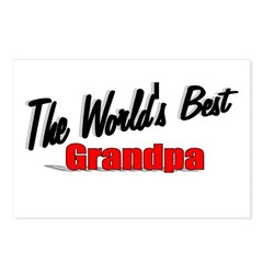 """The World's Best Grandpa"" Postcards (Package of 8"