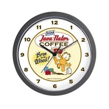 Java-nator Garfield Wall Clock