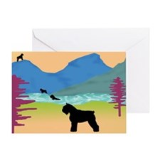 Wild Bouviers Greeting Card