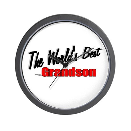 """The World's Best Grandson"" Wall Clock"