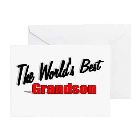 """The World's Best Grandson"" Greeting Card"