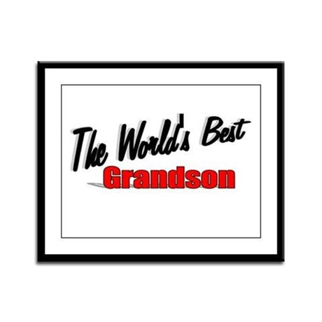 """The World's Best Grandson"" Framed Panel Print"