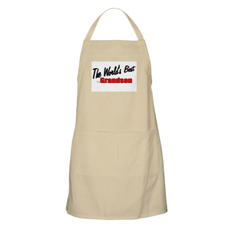 """The World's Best Grandson"" BBQ Apron"