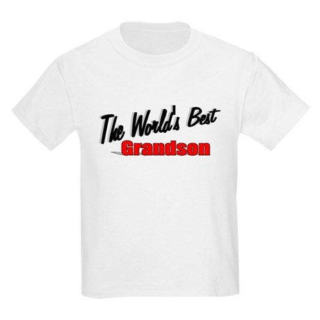 """The World's Best Grandson"" Kids Light T-Shirt"