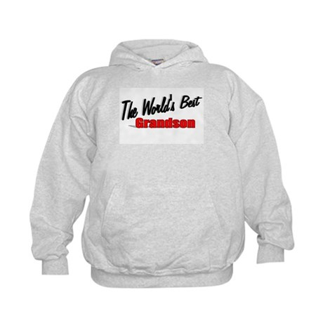"""The World's Best Grandson"" Kids Hoodie"