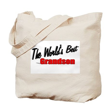 """The World's Best Grandson"" Tote Bag"