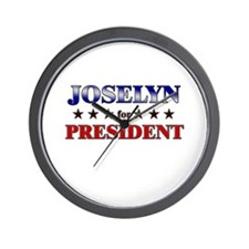 JOSELYN for president Wall Clock