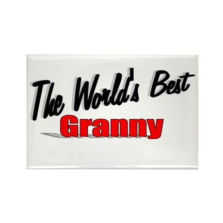 """The World's Best Granny"" Rectangle Magnet"