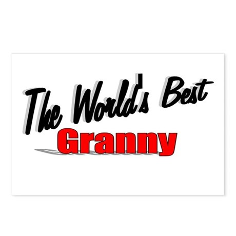 """The World's Best Granny"" Postcards (Package of 8)"