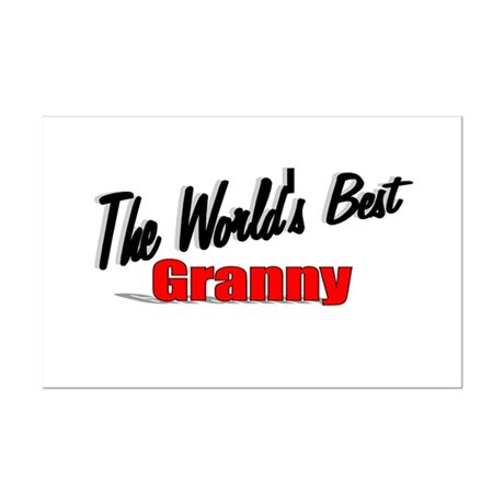 """The World's Best Granny"" Mini Poster Print"
