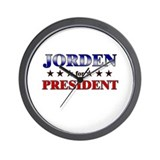 JORDEN for president Wall Clock