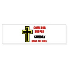 CHURCH WELCOME Bumper Bumper Sticker
