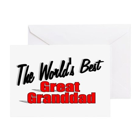 """The World's Best Great Granddad"" Greeting Card"