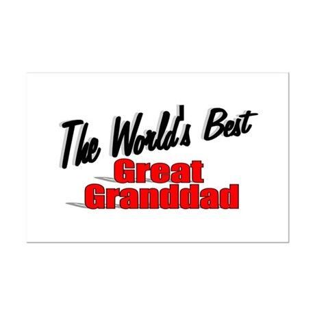 """The World's Best Great Granddad"" Mini Poster Prin"