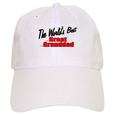 """The World's Best Great Granddad"" Cap"