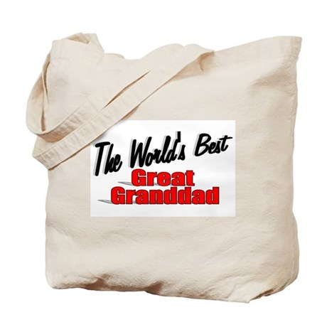 """The World's Best Great Granddad"" Tote Bag"