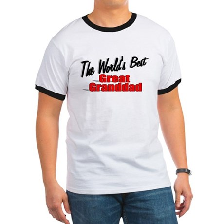 """The World's Best Great Granddad"" Ringer T"