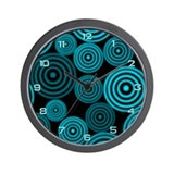 Aqua Circles Wall Clock