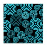 Aqua Circles Tile Coaster
