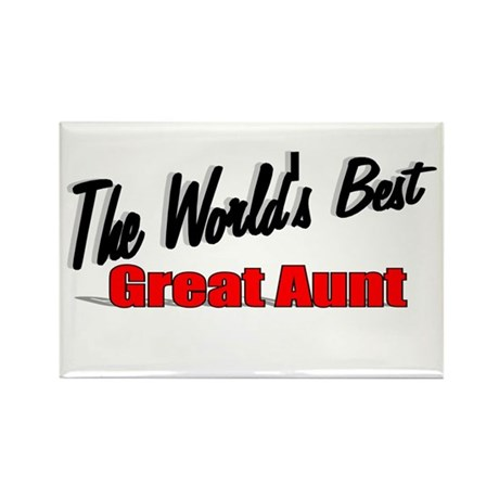 """The World's Best Great Aunt"" Rectangle Magnet"