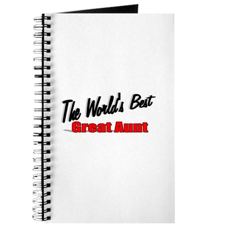 """The World's Best Great Aunt"" Journal"