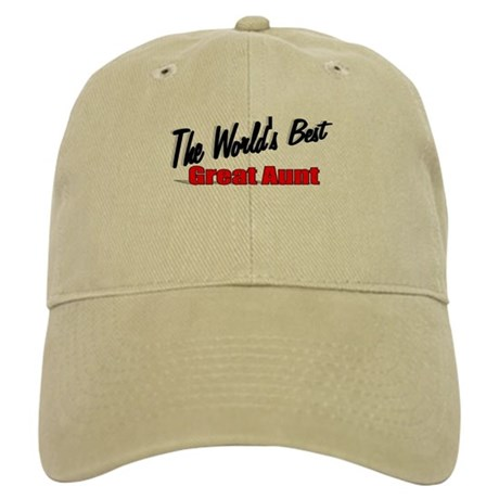 """The World's Best Great Aunt"" Cap"