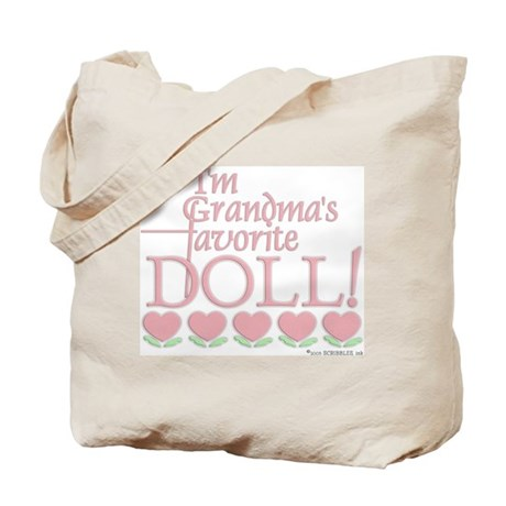 Grandma's Favorite Doll - Pink Tote Bag