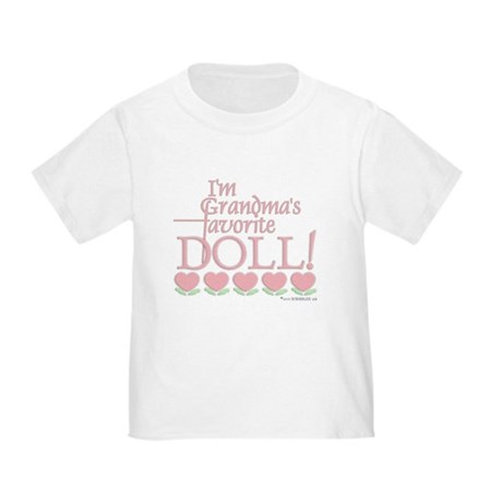 Grandma's Favorite Doll - Pink Toddler T-Sh
