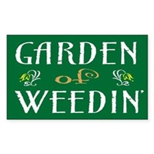 Garden of Weedin' Rectangle Decal