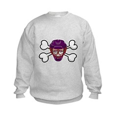 Hockey Skull & Crossbones Kids Sweatshirt
