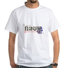 Proud Navy Mom (logo) Shirt