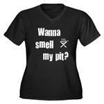 BBQ - Wanna Smell My Pit? Women's Plus Size V-Neck