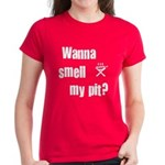 BBQ - Wanna Smell My Pit? Women's Dark T-Shirt