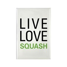 Live Love Squash Rectangle Magnet (10 pack)
